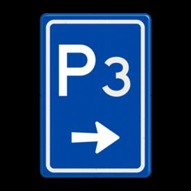 Verkeersbord RVV BW201r met nummer