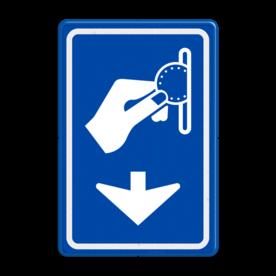 Verkeersbord RVV BW111 - Betaaldautomaat met aanpasbare pijlrichting