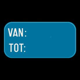 Verkeersbord SB250 G type VIId - Aanvulling op verkeersborden voor stilstaan en parkeren