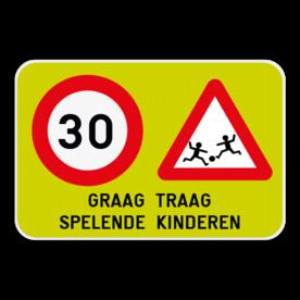 Informatiebord - Spelende kinderen + C43