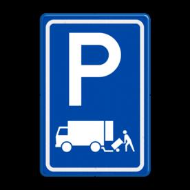 Verkeersbord RVV E07 - Parkeergelegenheid Laden en lossen