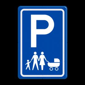 Verkeersbord E08s parkeerplaats voor gezinnen
