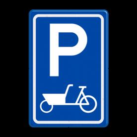 Verkeersbord E08 parkeerplaats bakfiets