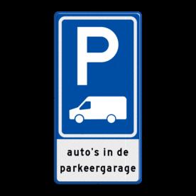 Verkeersbord RVV E08p - parkeerplaats Busje met tekst