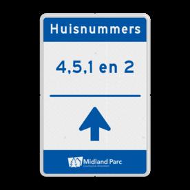 Routebord huisnummers op maat - incl. logo