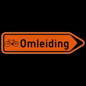 Verkeersbord SB250 F41 - Wegwijzer omleiding voor fietsers Rechts