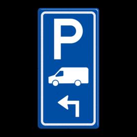 Parkeerroutebord E8p busje met aanpasbare pijl