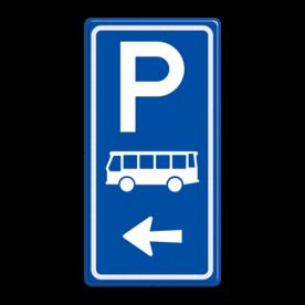 Parkeerroutebord E8d bus met pijl