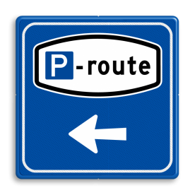 Verkeersbord RVV BW204 - Parkeerrouteverwijzing