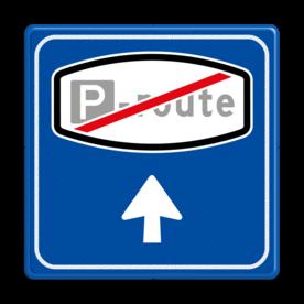 Verkeersbord RVV BW204e - Einde Parkeerrouteverwijzing