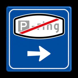 Verkeersbord RVV BW205e - Einde Parkeerringverwijzing