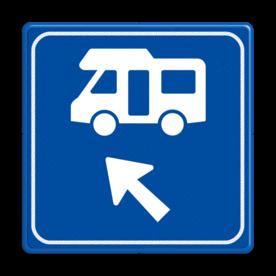 Verkeersbord - Routeverwijzing Camper