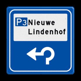 Verkeersbord - Parkeerplaatsverwijzing met nummer
