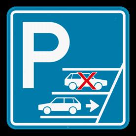 Parkeerbord Achteruit inparkeren verplicht 1:1