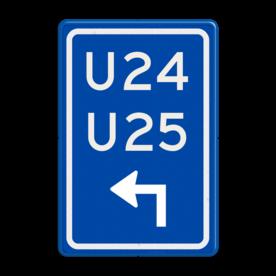 Verkeersbord RVV BW501lh - U-bord