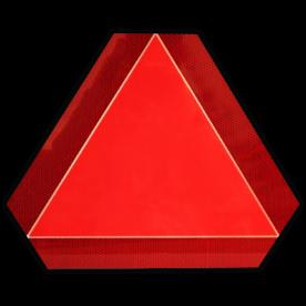 Langzaam verkeer bord - driehoek 400mm fluorescerend oranje