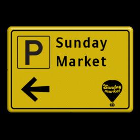 Verkeersbord WIU geel/zwart eigen ontwerp