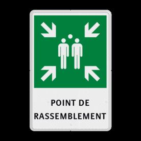 Verzamelplaats frans bord met tekst | POINT DE RASSEMBLEMENT