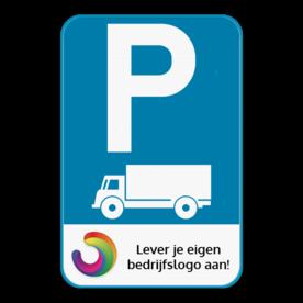 Parkeerbord E9c - Met je eigen logo
