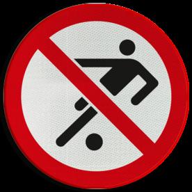 Verbodsbord - verboden te ballen