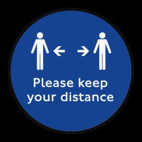 Vloersticker - Keep your distance