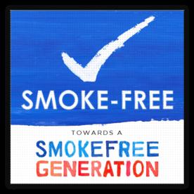 Vloersticker anti-slip - Smoke-free Generation