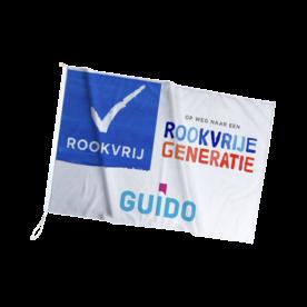 Gevel- mastvlag 120 gr/m² Longlife - Rookvrije Generatie - + logo