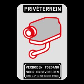 Camerabord - Privéterrein - Verboden toegang