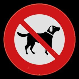 Verbodsbord - Loslopende honden