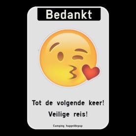Informatiebord - Bedankt -emoji