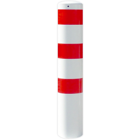 Rampaal Ø273x2000mm met grondmontage, verzinkt of wit/rood