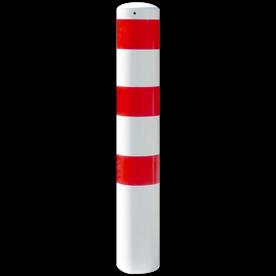 Rampaal Ø193x1500mm met grondmontage, verzinkt of wit/rood
