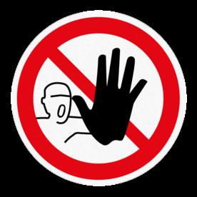 Vloersticker - Verboden toegang
