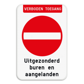 Bord Verboden toegang - C1