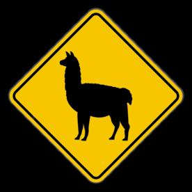 Verkeersbord Lama