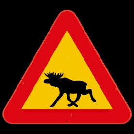 Verkeersbord Zweden - Eland