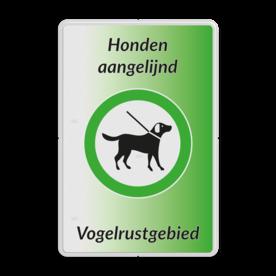 Informatiebord - Honden aan de lijn - Vogelrustgebied