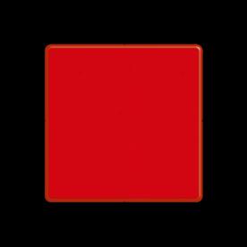 Dagteken enkel rood - het vaarwater is aan die zijde niet vrij