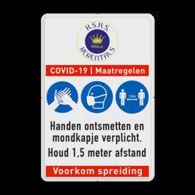 Informatiebord COVID-19 - maatregelen met eigen logo