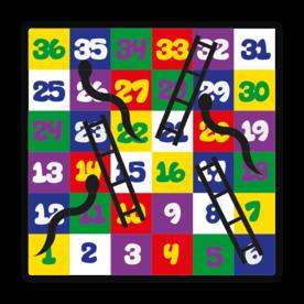 Thermoplast markering - Adders en Ladders spel