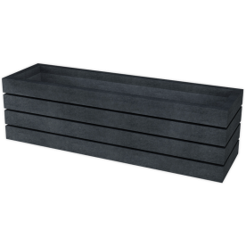 Bloembank - zwart - Agora