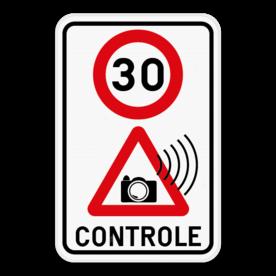 Verkeersbord Snelheidscontrole
