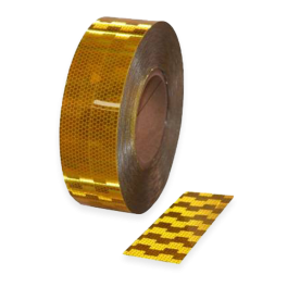 Contourmarkering geel - 50mm - op rol 12,5 of 50 meter
