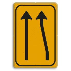 Omleidingsbord WIU T01-2l geel/zwart