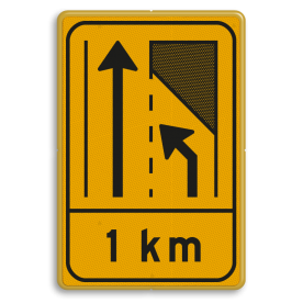 Omleidingsbord WIU T32-2l met afstand geel/zwart