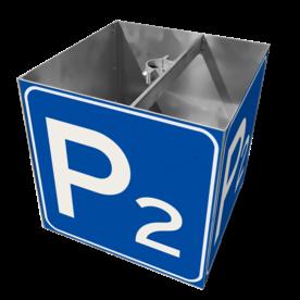 Parkeerplaat nummerbord, KUBUS met montagebeugels