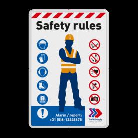 Veiligheidsbord - SAFETY RULES in huisstijl
