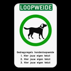 Informatiebord - Hondenloopweide