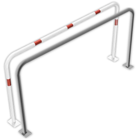 Geleidehek staal - 2000x1000mm - bodemmontage