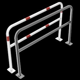 Geleidehek staal - tussenligger - 1500x1000mm - bodemmontage
